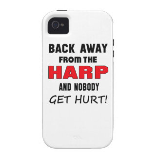 Back away from the Harp and nobody get hurt! Vibe iPhone 4 Cover