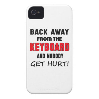 Back away from the Keyboard and nobody get hurt! iPhone 4 Covers