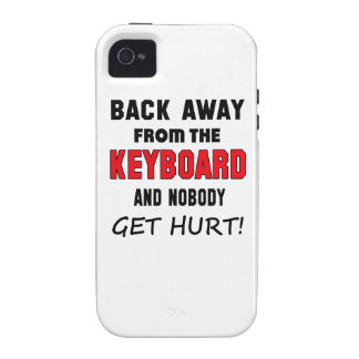 Back away from the Keyboard and nobody get hurt! iPhone 4/4S Cover