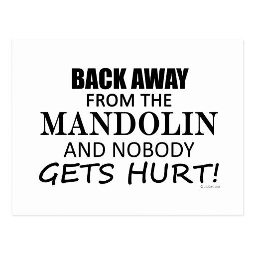 Back Away From The Mandolin Postcards