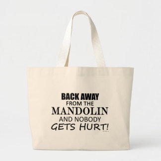 Back Away From The Mandolin Jumbo Tote Bag