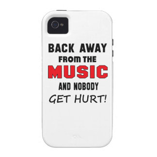 Back away from the Music and nobody get hurt! iPhone 4 Covers