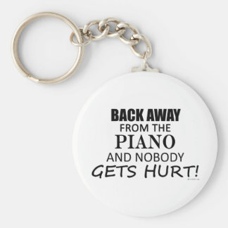 Back Away From The Piano Basic Round Button Key Ring