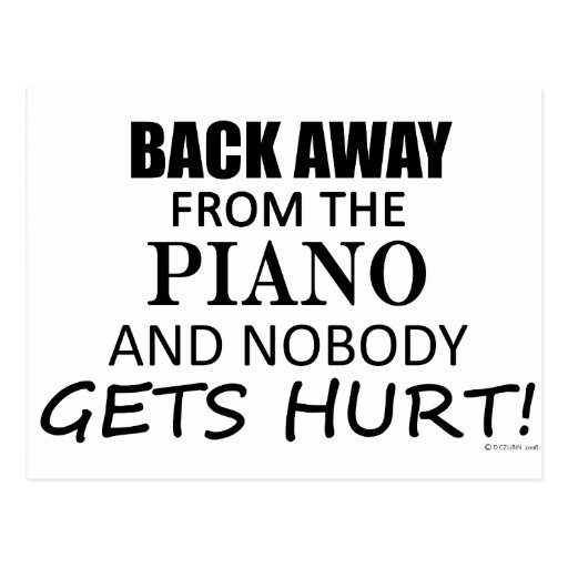 Back Away From The Piano Postcards