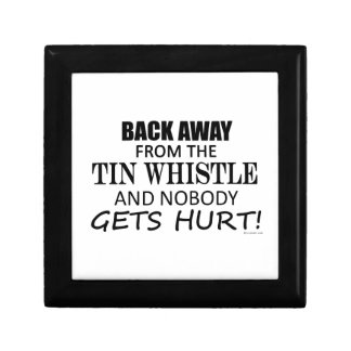 Back Away From The Tin Whistle Small Square Gift Box