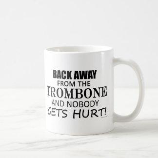 Back Away From The Trombone Basic White Mug