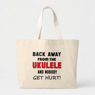 Back away from the Ukulele and nobody get hurt! Jumbo Tote Bag