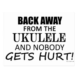 Back Away From The Ukulele Postcard
