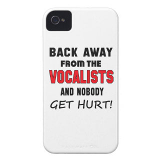 Back away from the Vocalists and nobody get hurt! iPhone 4 Case-Mate Case