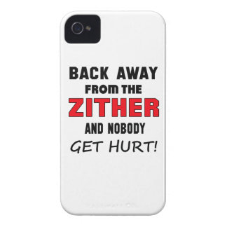 Back away from the Zither and nobody get hurt! iPhone 4 Case-Mate Case