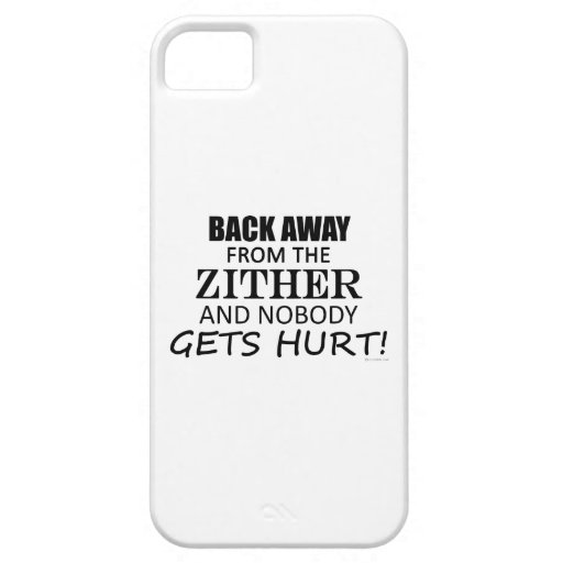 Back Away From The Zither iPhone 5 Covers
