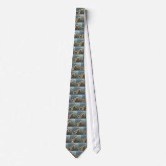 Back Design - Bridges, Forest n Green Layers Tie