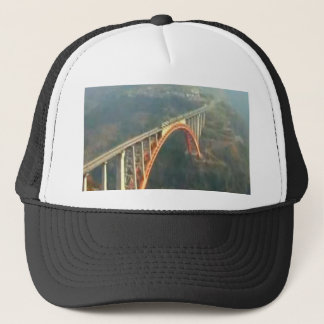 Back Design - Bridges, Forest n Green Layers Trucker Hat