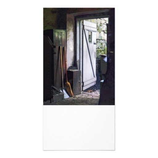 Back Door of Shop Personalized Photo Card