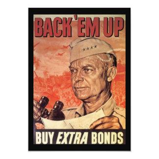 Back 'Em Up World War 2 Custom Invitation