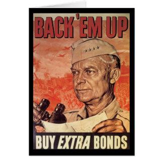 Back 'Em Up World War 2 Greeting Card