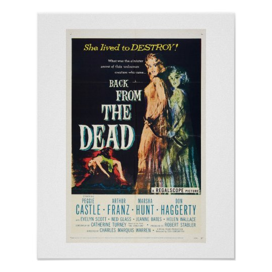 Back From the Dead (rare) Poster
