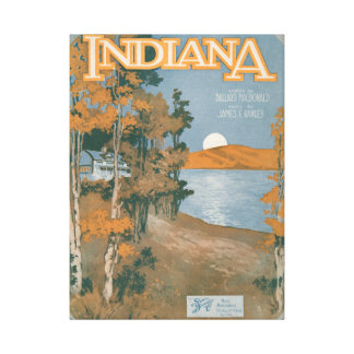 Back Home Again In Indiana Canvas Print