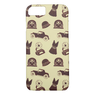 Back in the 20's Pattern iPhone 7 Case