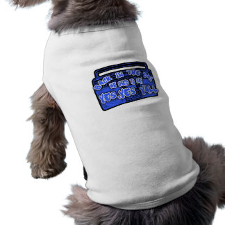 BACK IN THE DAY blue old school Hip Hop Dog Tee Shirt
