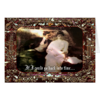 Back in Time Customizable Greeting Card