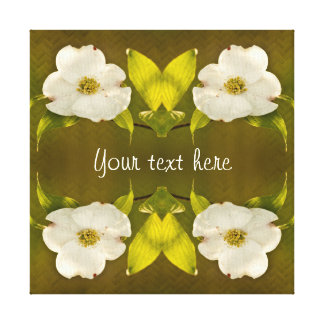 Back-lit Dogwood Blossom - Your Text Template Canvas Print