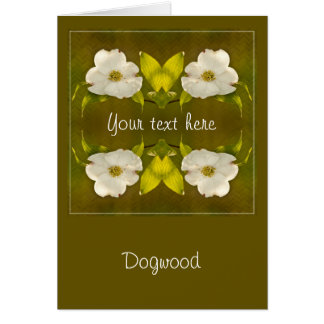 Back-lit Dogwood Blossom - Your Text Template Greeting Card