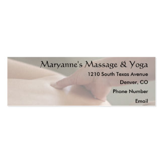 Back Massage Photo - thumb Double-Sided Mini Business Cards (Pack Of 20)