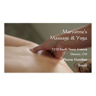 Back Massage Photo - thumb Business Card Templates