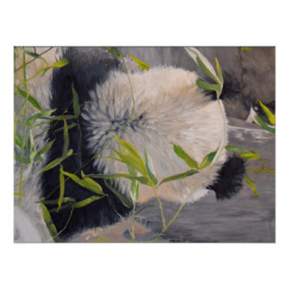 Back of a PANDA CUB Oil Painting Poster (24x18in)