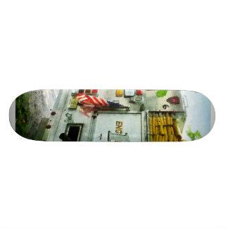 Back of Fire Truck Closeup Skateboard Decks