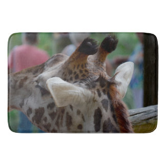 back of giraffe head animal image bath mats