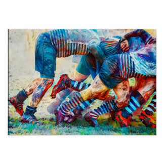 Back Of The Scrum - Rugby Art Print