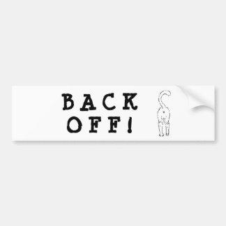 BACK OFF! BUMPER STICKER 1