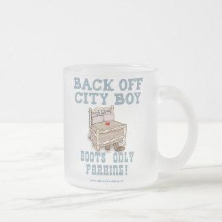 Back Off City Boy Frosted Glass Mug 10 oz