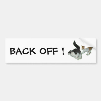 Back Off drivers Cats Bumper Sticker Car Bumper Sticker