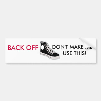 BACK OFF Funny Bumper Sticker