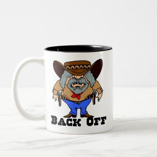 Back Off Funny Western Mug