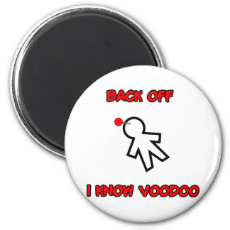 Back Off I Know Voodoo Doll Magic Spell Haitian 6 Cm Round Magnet