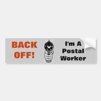 Back-Off I'm a Postal Worker Funny Sticker