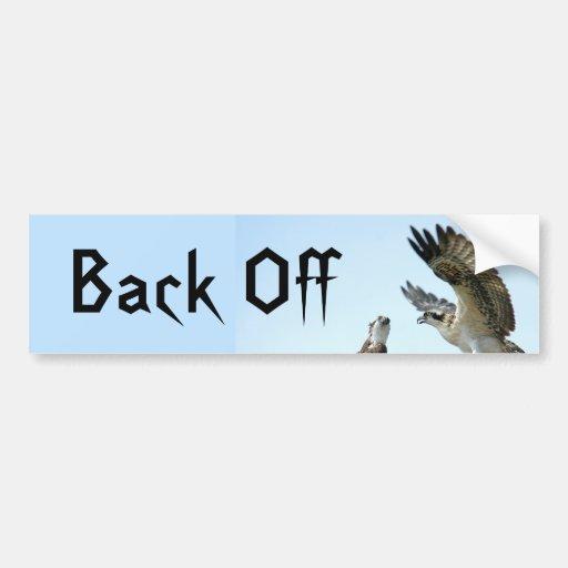 Back Off Osprey Hawk Bumper Sticker