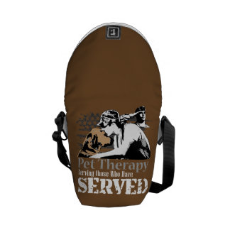 back pack promoting pet therapy for PTSD Commuter Bags