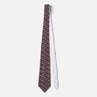 Back Printed Shirts Colorful Ethnic Wave Disc gift Tie