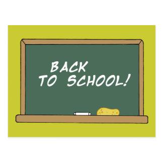 BACK SCHOOL CHALKBOARD LEARNING ELEMENTARY GRADES POSTCARD