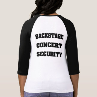 Back Stage Concert Security T Shirts