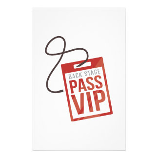 Back Stage Pass Customized Stationery