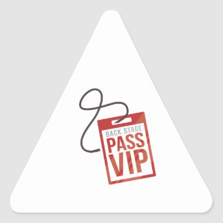 Back Stage Pass Triangle Stickers