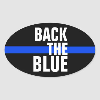 BACK THE BLUE SUPPORT POLICE BUMPER STICKER