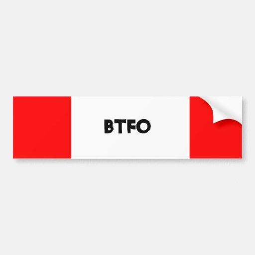 Back the F Off! Bumper Stickers