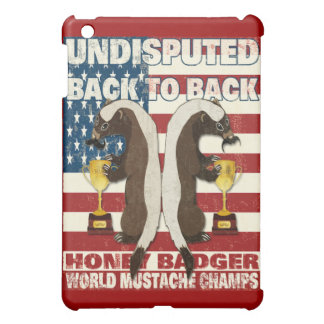 Back to Back Honey Badger World Mustache Champs Case For The iPad Mini
